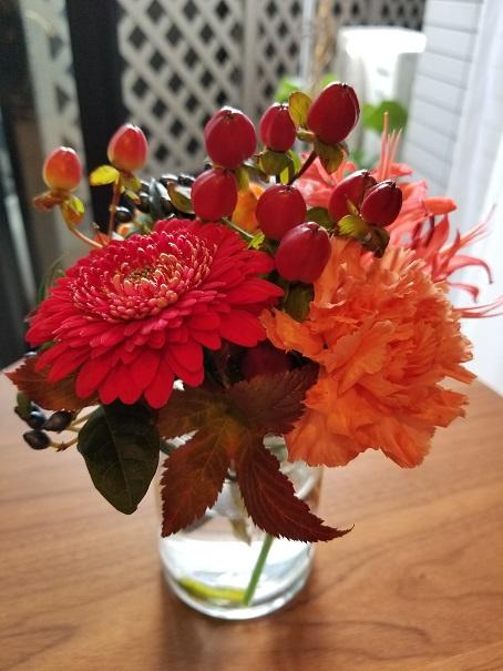 花に癒されて