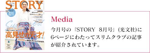 『STORY 8月号』にスリムクラブが紹介されました